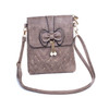 Brown Butterfly Bow with Pearl Crossbody Bag