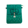 Green Butterfly Bow with Pearl Crossbody Bag