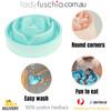 Happy Hunting  Healthy Slow Feed Dog/Cat Bowl - Blossom Design Blue