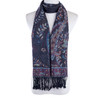 Women 100% Pashmina Premium Winter Scarf Wrap Black & Blue SCP628