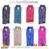 Women 100% Pashmina Premium Winter Scarf Wrap Black & Purple SCP630