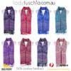 Women 100% Pashmina Premium Winter Scarf Wrap Purple SCP631