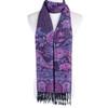 Women 100% Pashmina Premium Winter Scarf Wrap Black & Purple SCP632