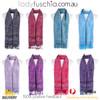 Women 100% Pashmina Premium Winter Scarf Wrap Black & Green SCP633