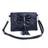 Black  Butterfly Bow with Tassel Crossbody Bag