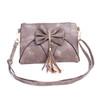 Grey Caramel Butterfly Bow with Tassel Crossbody Bag