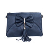 Navy Caramel Butterfly Bow with Tassel Crossbody Bag