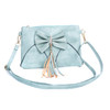 Blue Caramel Butterfly Bow with Tassel Crossbody Bag