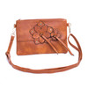Brown Butterfly Embroidered Crossbody Bag