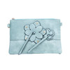 Blue Butterfly Embroidered Crossbody Bag