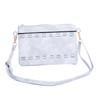 White Golden strap braided Crossbody Bag