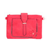 Red Floral Embroided Stud with Clip Crossbody Bag