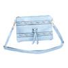 Blue Golden Stud Symmetric with Tassel Crossbody Bag