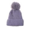 Grey Faux Fur Pom Winter Beanie Hat HATM213-4