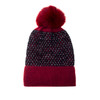 Wine Faux Fur Pom Winter Beanie Hat HATM235-7