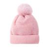 Pink Faux Fur Pom Winter Beanie Hat HATM237-2