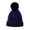 Navy Faux Fur Pom Winter Beanie Hat HATM239-2