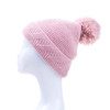 Pink Faux Fur Pom Winter Beanie Hat HATM239-6