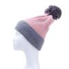 Pink Faux Fur Pom Winter Beanie Hat HATM251-2