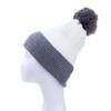 White Faux Fur Pom Winter Beanie Hat HATM251-7