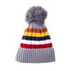 Grey Faux Fur Pom Winter Beanie Hat HATM252-4