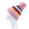 Pink Faux Fur Pom Winter Beanie Hat HATM252-6
