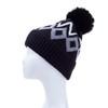 Black Faux Fur Pom Winter Beanie Hat HATM253-3