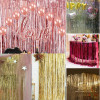 Metallic Tinsel Curtain Foil 2m - Milk