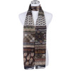 GREEN Lady's Summer Light Weight Scarf SCX892-4