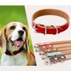 Genuine Cow Leather Dog Pet Puppy Cat Collar Neck Buckle Neck Strap Adjustable
