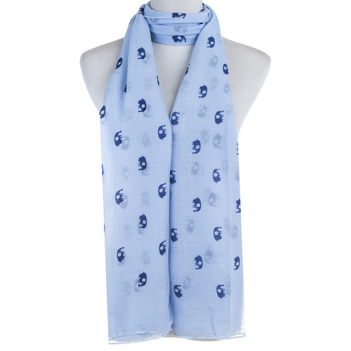 Blue Elephant Animal Pattern Premium Scarf