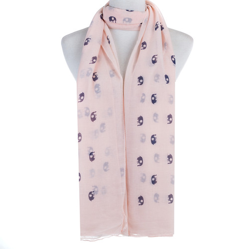 Pink Elephant Animal Pattern Premium Scarf