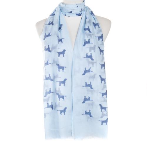 Blue Dog Animal Pattern Premium Scarf