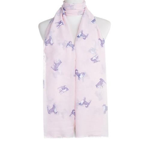 Pink Shiba Animal Pattern Premium Scarf