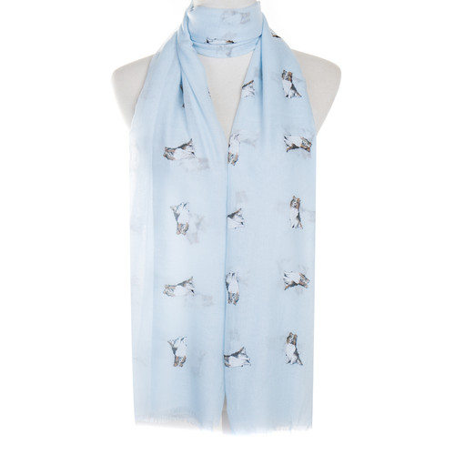 Blue Shepherd Animal Pattern Premium Scarf