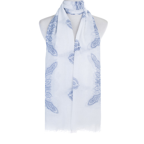 Blue Ameba Pattern Lightweight Soft Large Premium Scarf