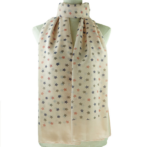 Pink Cute Floral Print All Seasons Scarf