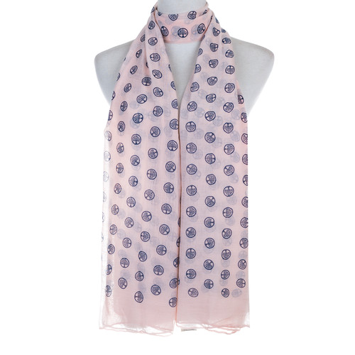 Pink Tree of Life Stamp Lightweight Soft Large Premium Scarf