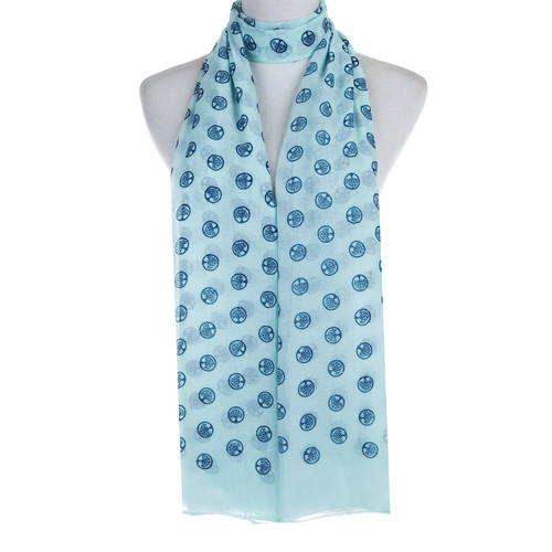 Teal Tree of Life Stamp Lightweight Soft Large Premium Scarf