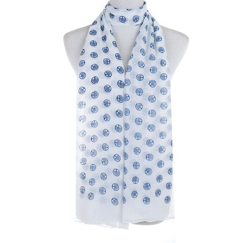White Tree of Life Stamp Lightweight Soft Large Premium Scarf