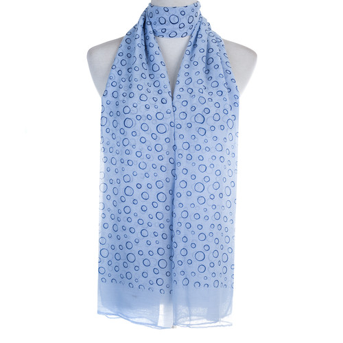 Blue Bubbles Pattern Lightweight Soft Large Premium Scarf