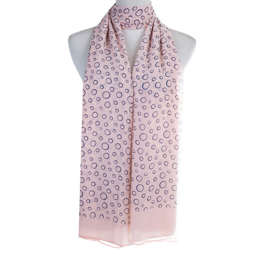 Pink Bubbles Pattern Lightweight Soft Large Premium Scarf