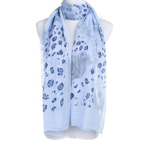 Blue Premium Large Animal print  Snake skin soft scarve shawl wrap