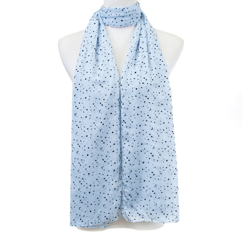 Blue Polka dots Pattern Premium Large Soft Lightweight All Seasons Scarve Shawl Wrap