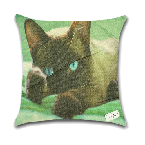 Cat Cushion Cover Waist Throw Pillow Case PCU0118