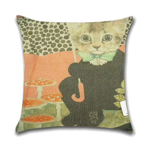 Cat Cushion Cover Waist Throw Pillow Case PCU0120