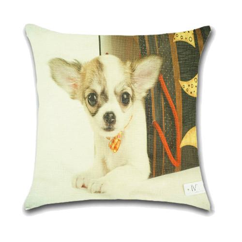 Dog Cushion Cover Waist Throw Pillow Case PCU0132
