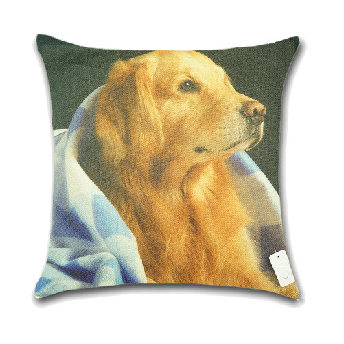 Dog Cushion Cover Waist Throw Pillow Case PCU0136