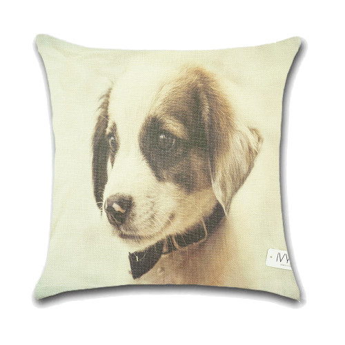 Dog Cushion Cover Waist Throw Pillow Case PCU0139