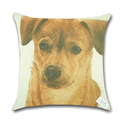 Dog Cushion Cover Waist Throw Pillow Case PCU0142